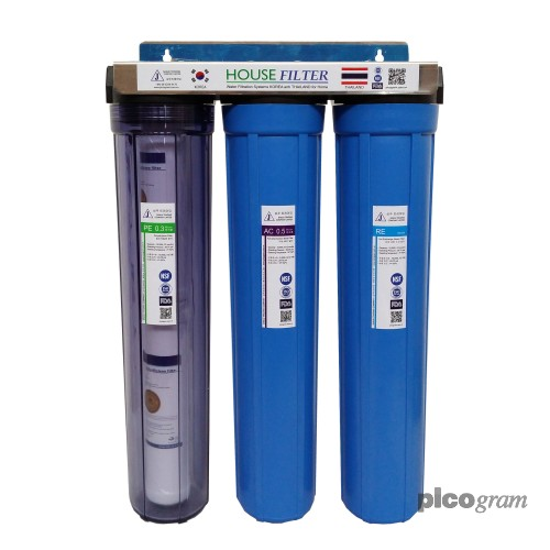 Bộ lọc nước sinh hoạt 3 bước 20in