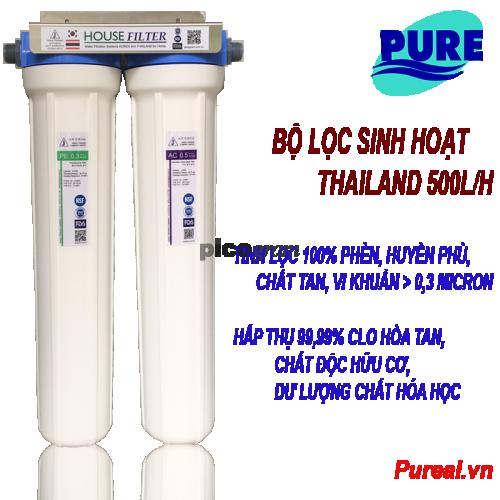 Bô lọc nước sinh hoạt 2 bước 500l/h